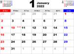 2022年1月 カレンダー
